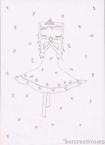 Dibujo de muñeca soñadora