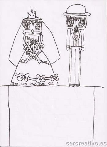 dibujo de novios